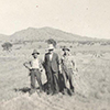 Lanyon wheat paddock, L-R: Todd Savage, Bill Gepperd, unknown c. 1940